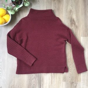 Madewell Burgundy Mock Neck Sweater XS
